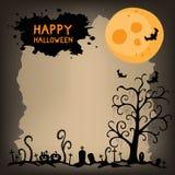 Fondo spaventoso di notte di Halloween Fotografia Stock Libera da Diritti
