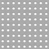 Fondo spazzolato delle mattonelle del metallo con i fori bianchi della griglia Fotografie Stock