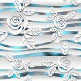 Fondo spheric bianco senza cuciture dell'estratto 3D Immagini Stock Libere da Diritti