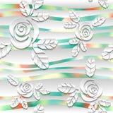 Fondo spheric bianco senza cuciture dell'estratto 3D Fotografia Stock Libera da Diritti