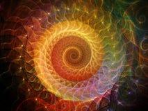 Fondo a spirale Immagini Stock