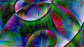 Fondo a spirale astratto del prisma Fotografie Stock