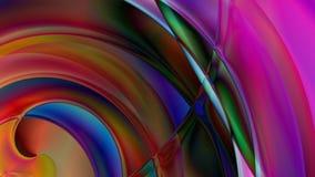 Fondo a spirale astratto del prisma Immagini Stock