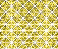 Fondo a spirale astratto giallo Immagine Stock Libera da Diritti