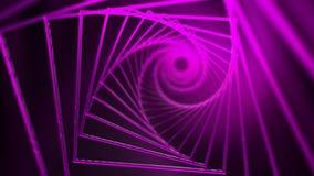 Fondo a spirale dei quadrati rosa con l'effetto di incandescenza video d archivio