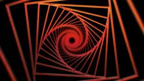 Fondo a spirale dei quadrati rossi stock footage