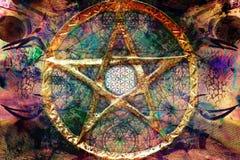 Fondo spirituale astratto con la geometria sacra fotografia stock libera da diritti