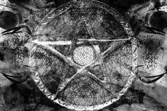 Fondo spirituale astratto con la geometria sacra fotografie stock libere da diritti