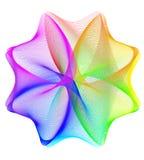 Fondo spirographic abstracto del arco iris libre illustration