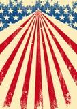 Fondo sporco americano della bandiera illustrazione vettoriale