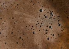 Fondo spumoso fatto caldo della bolla del caffè fotografia stock