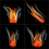Fondo stabilito dell'estratto di vettore del fuoco della fiamma dell'ustione Fotografie Stock