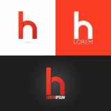 Fondo stabilito dell'icona di progettazione di logo della lettera H illustrazione di stock