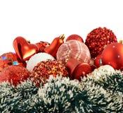 Fondo stagionale della decorazione di Natale Fotografia Stock