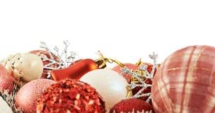 Fondo stagionale della decorazione di Natale Fotografie Stock