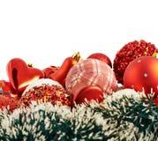 Fondo stagionale della decorazione di Natale Fotografia Stock Libera da Diritti