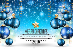 Fondo stagionale di Buon Natale per le vostre cartoline d'auguri Immagini Stock Libere da Diritti