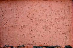 Fondo stagionato arancio della parete del gesso Fotografia Stock Libera da Diritti