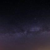 Fondo stellato del cielo di notte Fotografie Stock Libere da Diritti