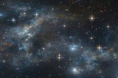 Fondo stellato dello spazio del cielo notturno con la nebulosa Fotografia Stock Libera da Diritti