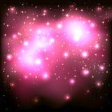 Fondo stellato rosa Immagini Stock