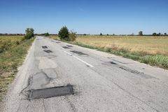 Fondo stradale nocivo Fotografie Stock