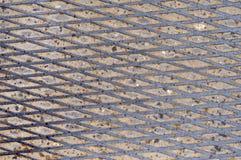 Fondo stridente d'acciaio antisdrucciolevole di punto Fotografie Stock