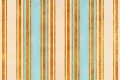 Fondo a strisce beige, blu-chiaro e dorato dell'acquerello Immagine Stock Libera da Diritti