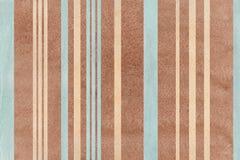 Fondo a strisce beige e blu di marrone dell'acquerello, Fotografia Stock