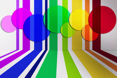 Fondo a strisce colorato Immagini Stock Libere da Diritti