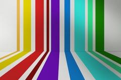 Fondo a strisce colorato Fotografia Stock Libera da Diritti