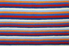 Fondo a strisce del panno tricottato. Fotografia Stock
