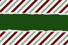 Fondo a strisce della canna di caramella di Natale Fotografia Stock