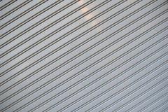 Fondo a strisce grigio della lamiera sottile Fotografia Stock