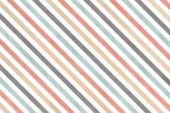 Fondo a strisce grigio, rosa, beige e blu dell'acquerello Fotografia Stock Libera da Diritti