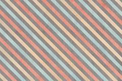 Fondo a strisce grigio, rosa, beige e blu dell'acquerello Immagine Stock Libera da Diritti