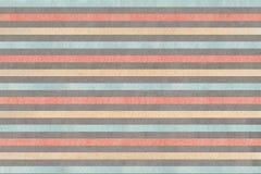 Fondo a strisce grigio, rosa, beige e blu dell'acquerello Fotografia Stock