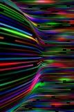 Fondo a strisce multicolore d'ardore dell'estratto fotografie stock libere da diritti