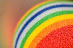 Fondo a strisce multicolore della sfera immagini stock