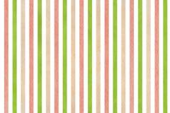 Fondo a strisce rosa e beige di verde dell'acquerello, Fotografie Stock Libere da Diritti