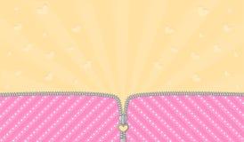 Fondo a strisce rosa luminoso per un partito di tema nella sorpresa della bambola di GRASSA RISATA di stile royalty illustrazione gratis