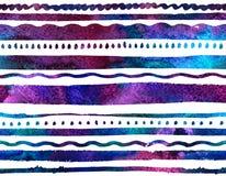 Fondo a strisce senza cuciture dell'acquerello royalty illustrazione gratis