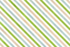 Fondo a strisce verde e blu di beige dell'acquerello, Immagine Stock