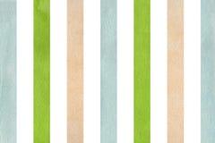 Fondo a strisce verde e blu di beige dell'acquerello, Fotografie Stock Libere da Diritti
