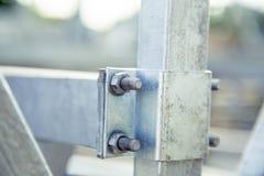 Fondo, struttura, metallo di bullonatura Fotografie Stock