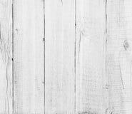 Fondo strutturato bianco delle plance di legno Fotografie Stock