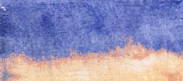 Fondo strutturato blu e giallo - illustrazione del mare e della spiaggia illustrazione vettoriale