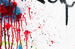 Fondo strutturato colorato della parete Fotografia Stock Libera da Diritti