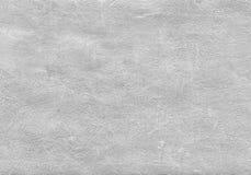 Fondo strutturato d'argento con gli elementi naturali dell'acrilico della pittura e della carta Fotografie Stock