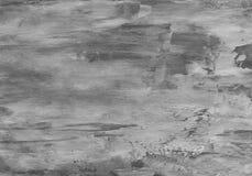 Fondo strutturato d'argento con gli elementi naturali dell'acrilico della pittura e della carta Fotografie Stock Libere da Diritti
